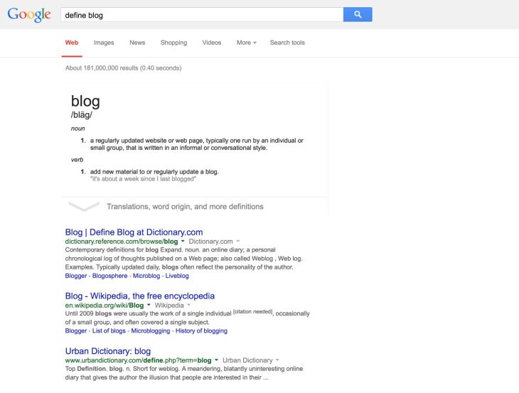 As 'Googled'