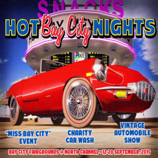 Hot Bay City Nights Poster 2015