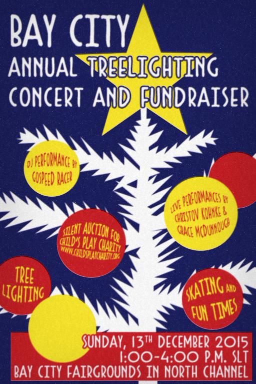 Bay City Tree Lighting Poster 2015