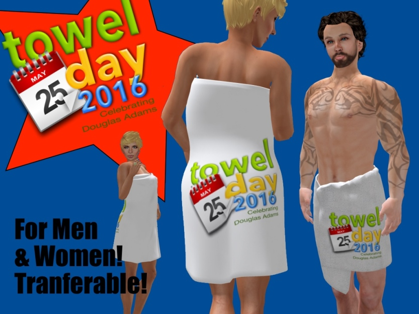 PoP Shop Towel Day 2016 For Men & Women