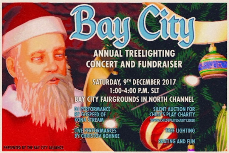 Bay City Tree Lighting Poster 2017